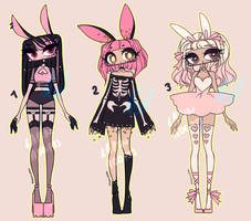 PINK BUN ADOPTS by agent-lapin