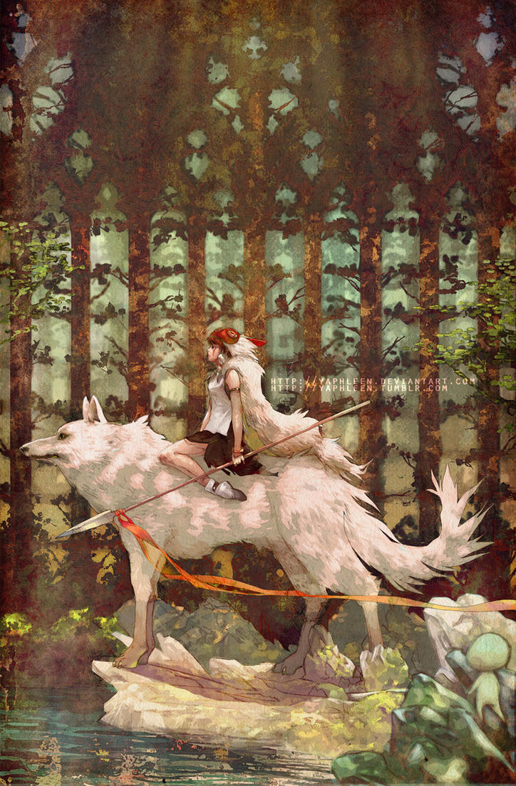 Princess Mononoke by Yaphleen