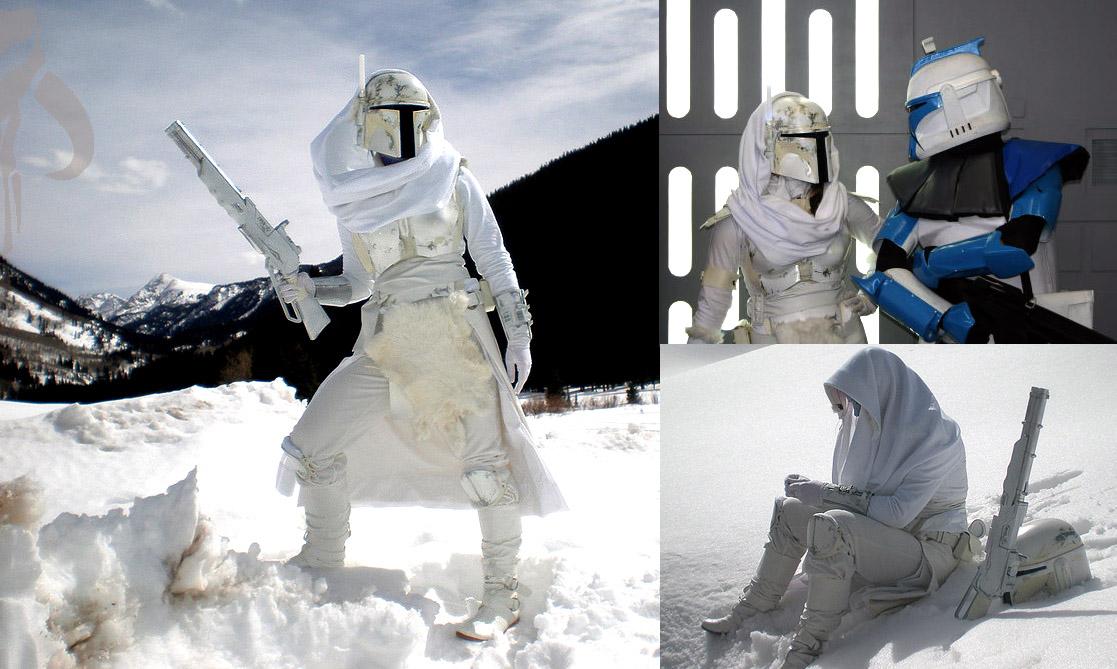 Umi - Snow Mandalorian by hydraness