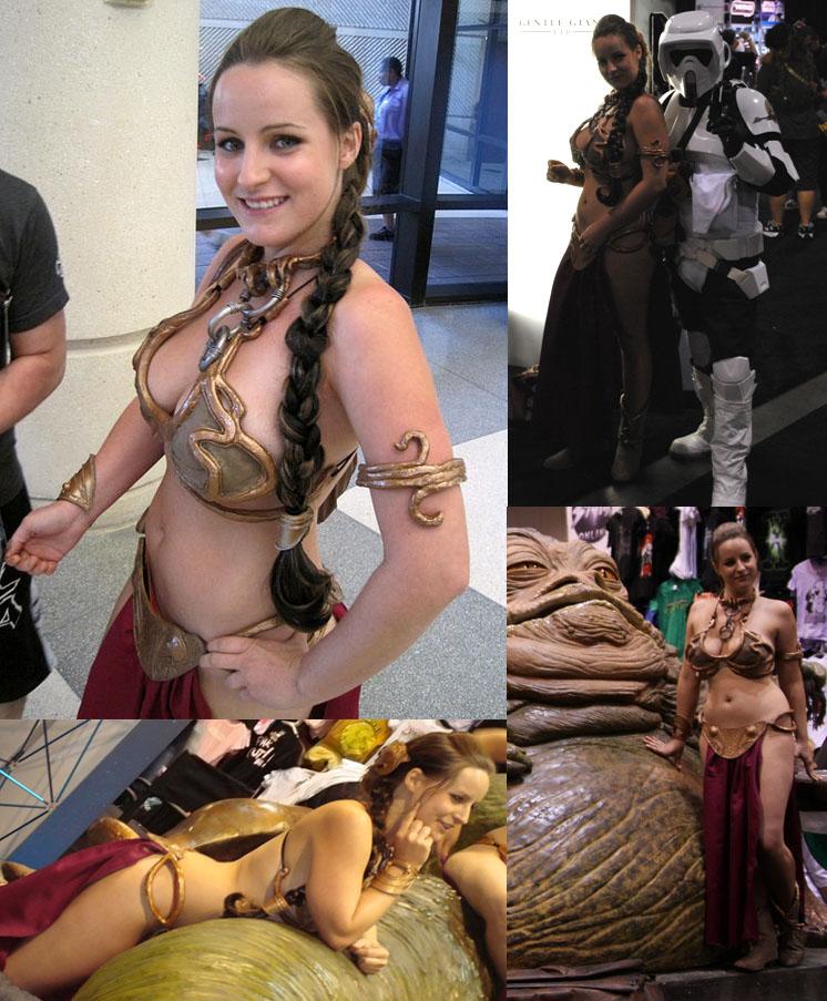 Costume: Leia's Metal Bikini by hydraness