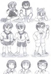Childhood sketch by Oljum