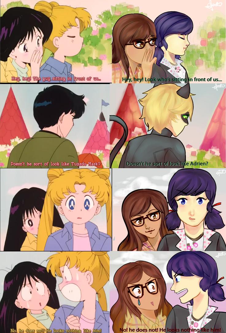 Sailor Moon vs Miraculous Ladybug: Chat by TheGirlOfFate