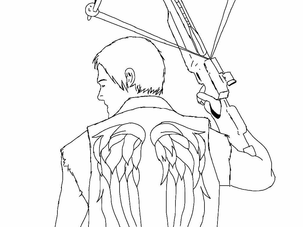 daryl dixon coloring pages - photo#21