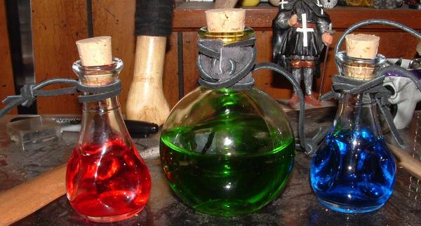 My Potion Bottles By Mokavu On DeviantArt