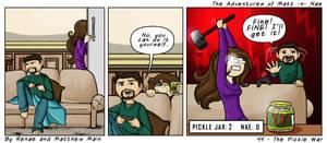Adventures of Matt -n- Nae #43 - The Pickle War by TheEvilNae