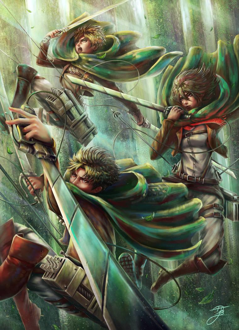 Attack on Titan Fan art by DJBshadow on DeviantArt