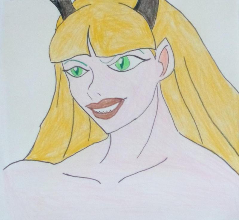 Blonde Morrigan Aensland by AceOfStCanardKLy