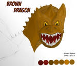 Brown Dragon Colored