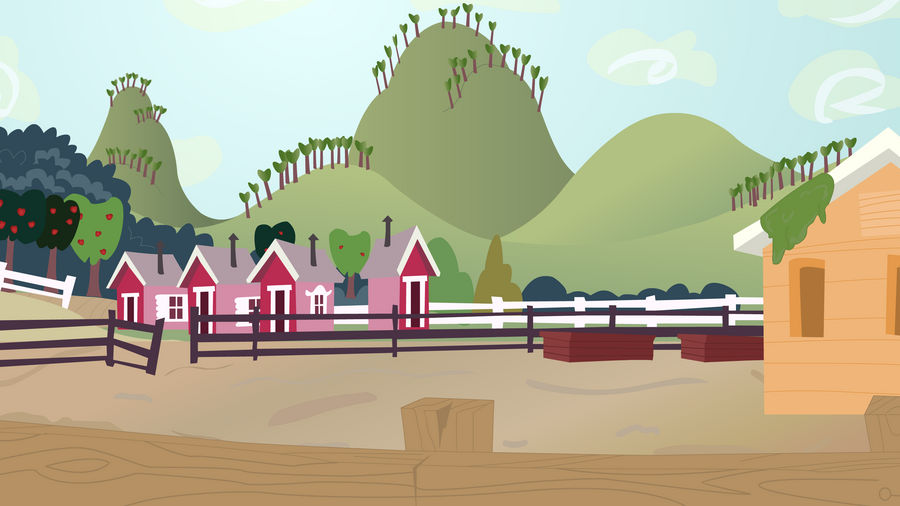 Background vector: Sweet Apple Acres Pigsley
