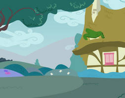 Background vector: Ponyville Outskirts by DracoBlair