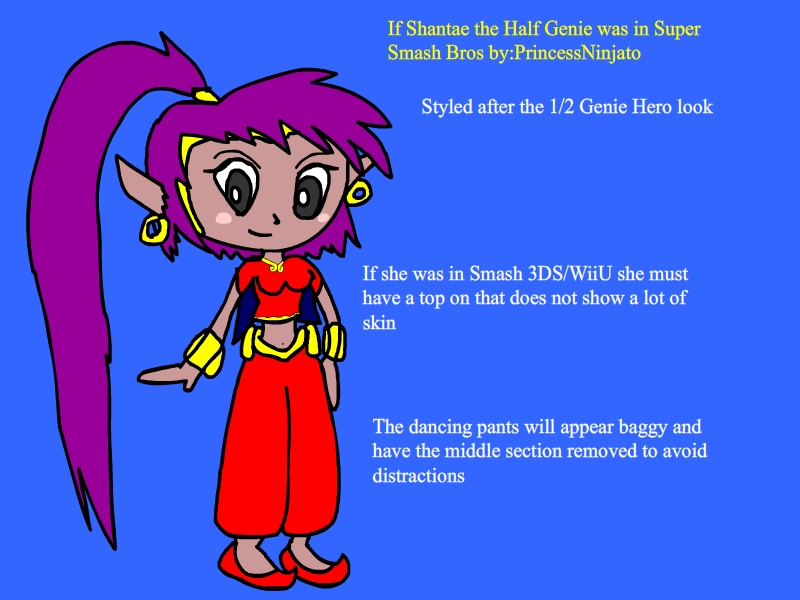 Shantae if she was on Super Smash Bros by princessninjato