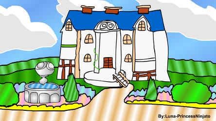 Puyo Pop Fever 2 Background Old Mansion by LunaPrincessNinjato