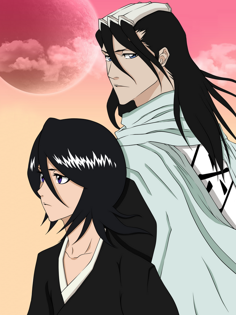 Kuchiki Byakuya and Rukia (Bleach) by CaptainGhostly