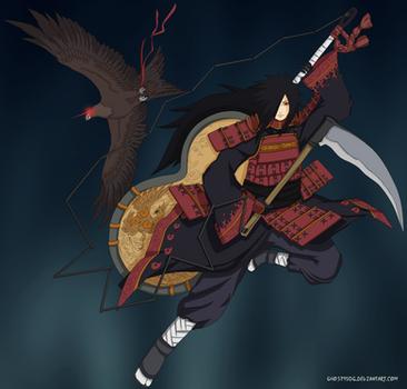 Uchiha Madara (Naruto) by CaptainGhostly