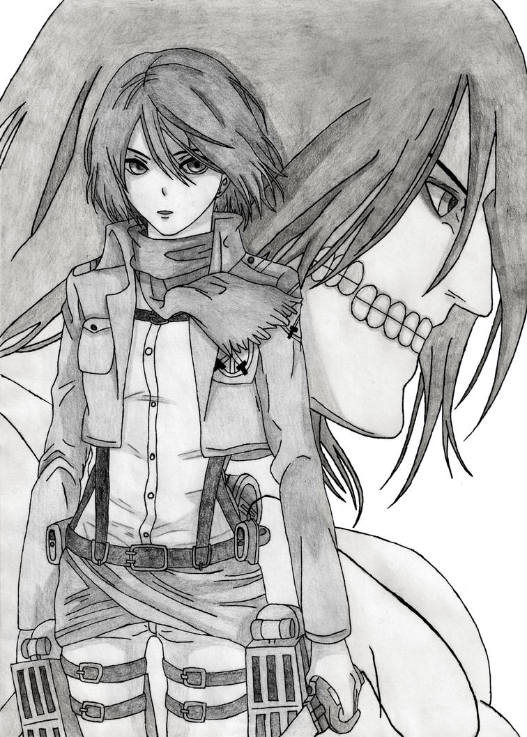 Attack on Titan: Mikasa and Eren by CaptainGhostly on DeviantArt