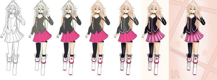 Vocaloid - IA Progress Image (Lineart available)