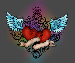 Heart Tattoo- colored