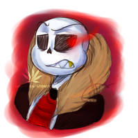 Underfell Sans painting by Ghost-da-Stoner