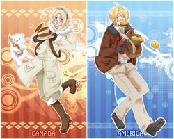 APH - Pancakes and Hamburgers by mikokume-raie