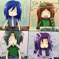 Gaming Faces by mikokume-raie