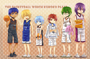 KnB - Chibi Generation of Miracles by mikokume-raie