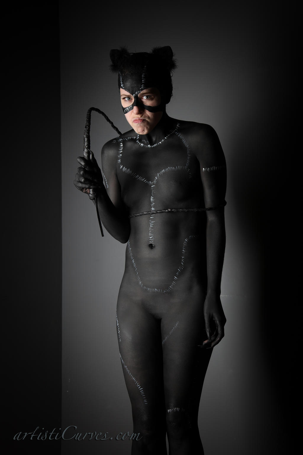 Catwoman body paint- tangled up by shelle-chii