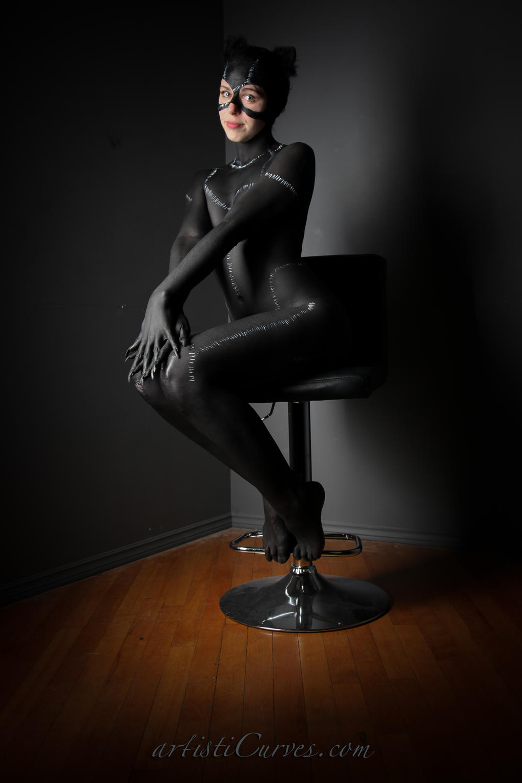 Catwoman body paint- Sitting Pretty by shelle-chii
