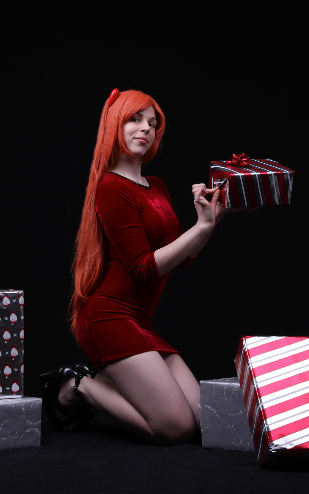 Oh come let us adore her - x-mas Asuka by shelle-chii