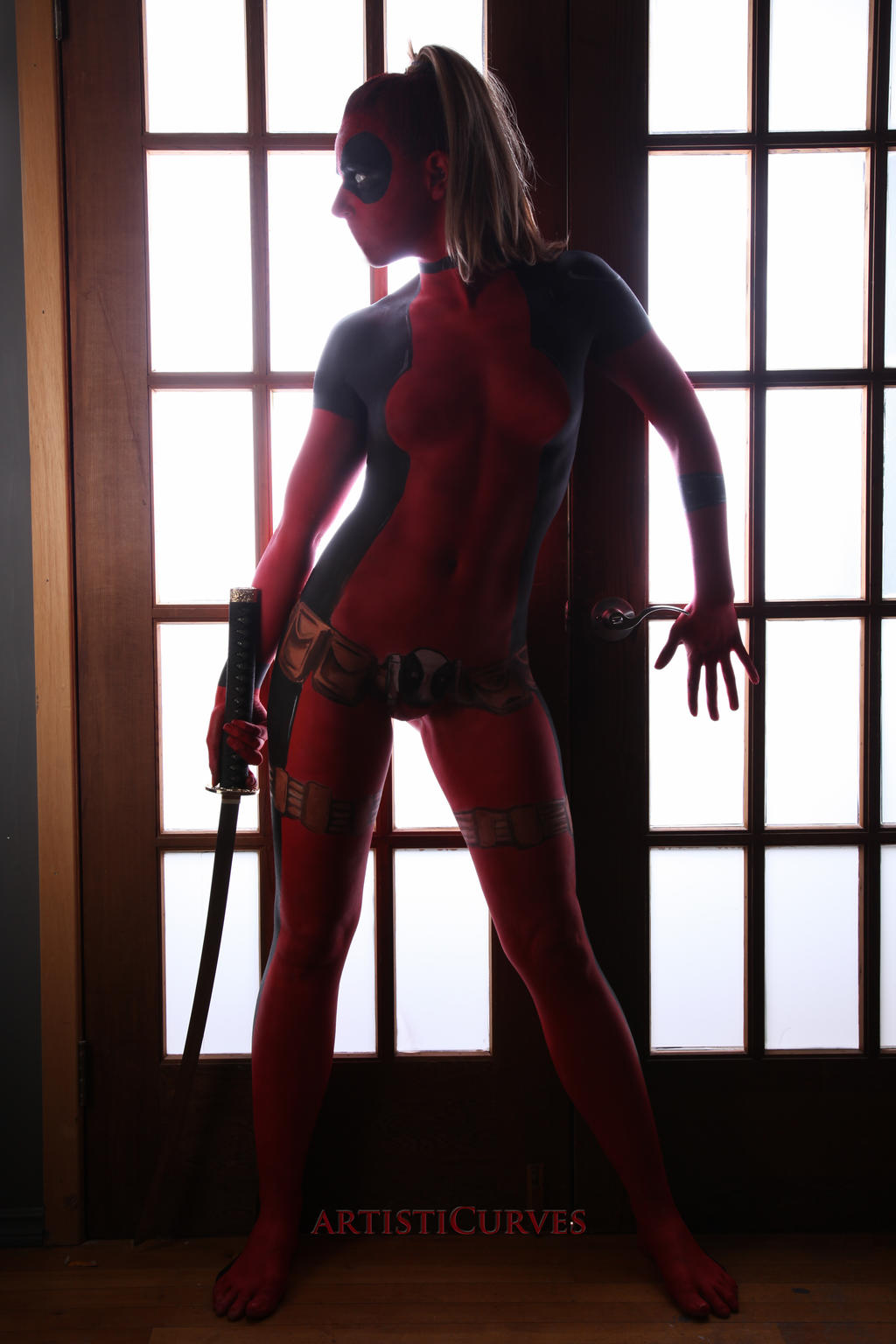 Deadpool Body Paint - Spy Movie by shelle-chii
