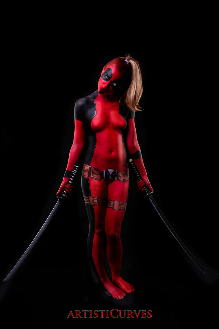 Deadpool Body Paint- Gonna Get Ya by shelle-chii