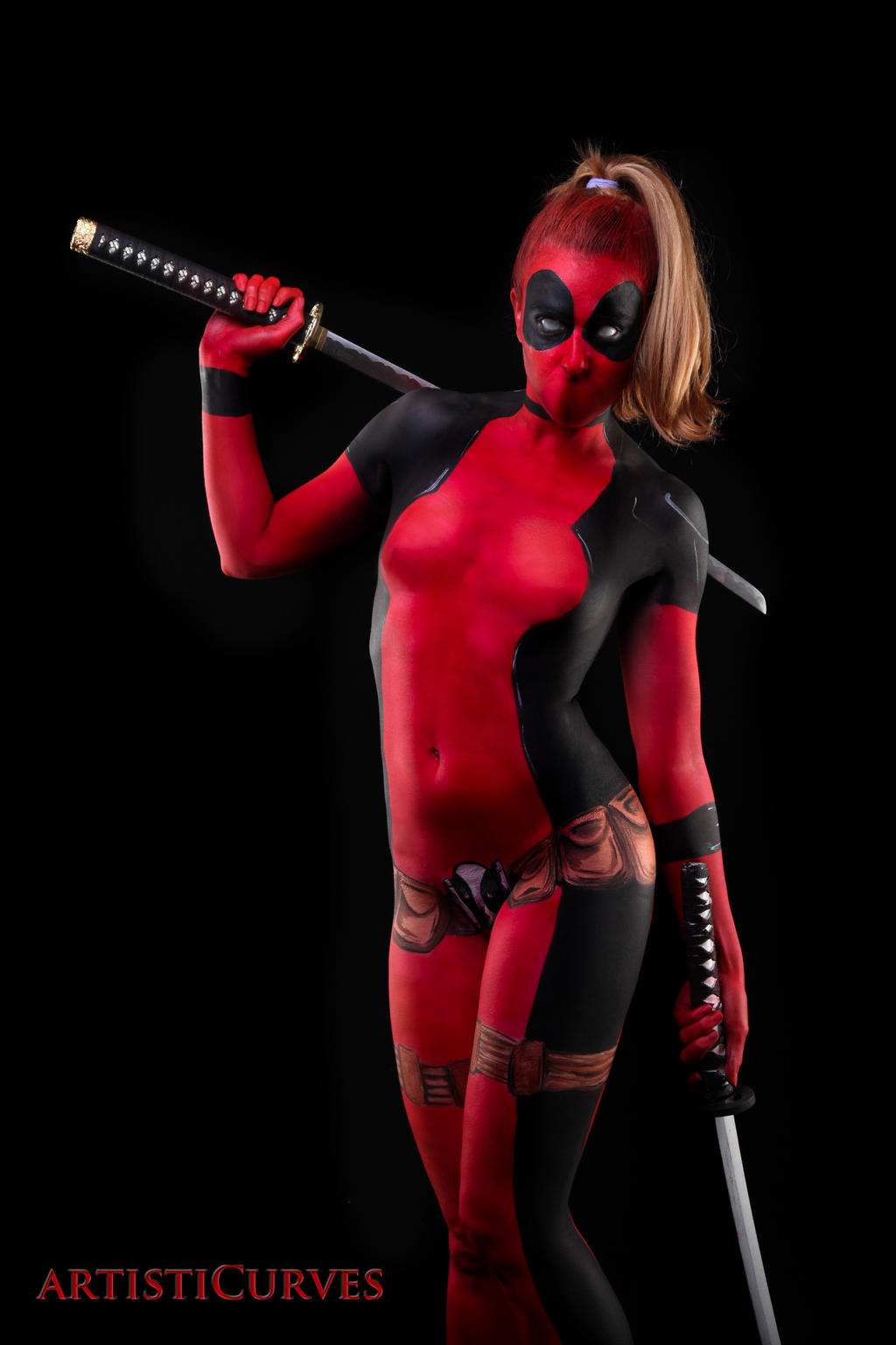 Deadpool Body Paint - looks that kill by shelle-chii
