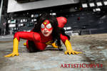 Spiderwoman body paint