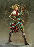 Steampunk Girl by Enkidi