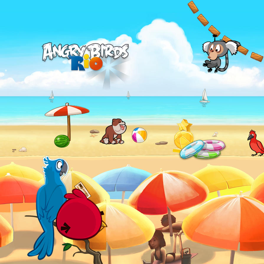 angry birds rio ipad background by sal9 on deviantart. Black Bedroom Furniture Sets. Home Design Ideas