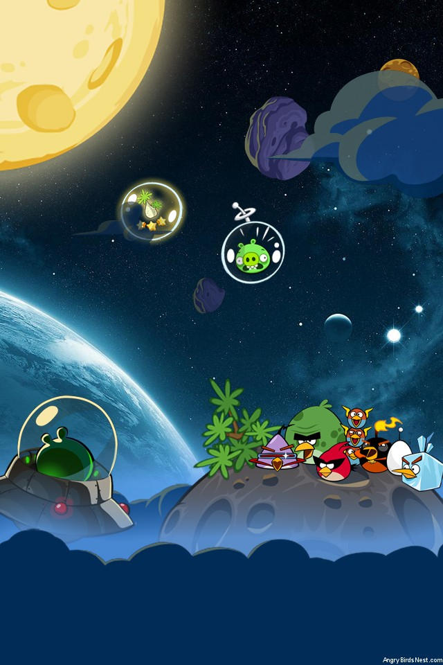 Angry Birds Space Pig Bang Iphone Wallpaper By Sal9 On Deviantart