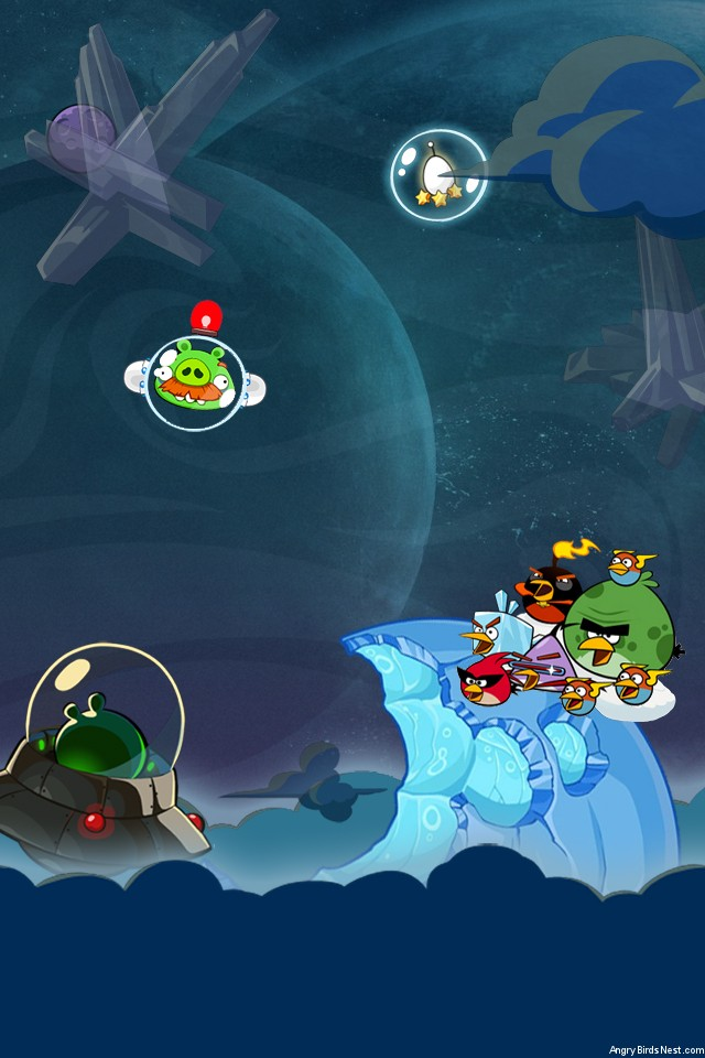 Angry Birds Space Fry Me Moon IPhone Wallpaper By Sal9