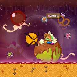 Angry Birds Space Utopia iPad Wallpaper by sal9