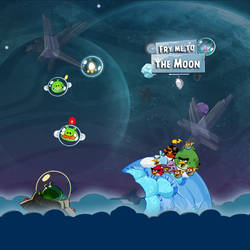 Angry Birds Space FMTTMoon iPad Wallpaper by sal9