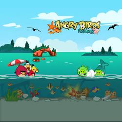 Angry Birds Seasons iPad Background by sal9