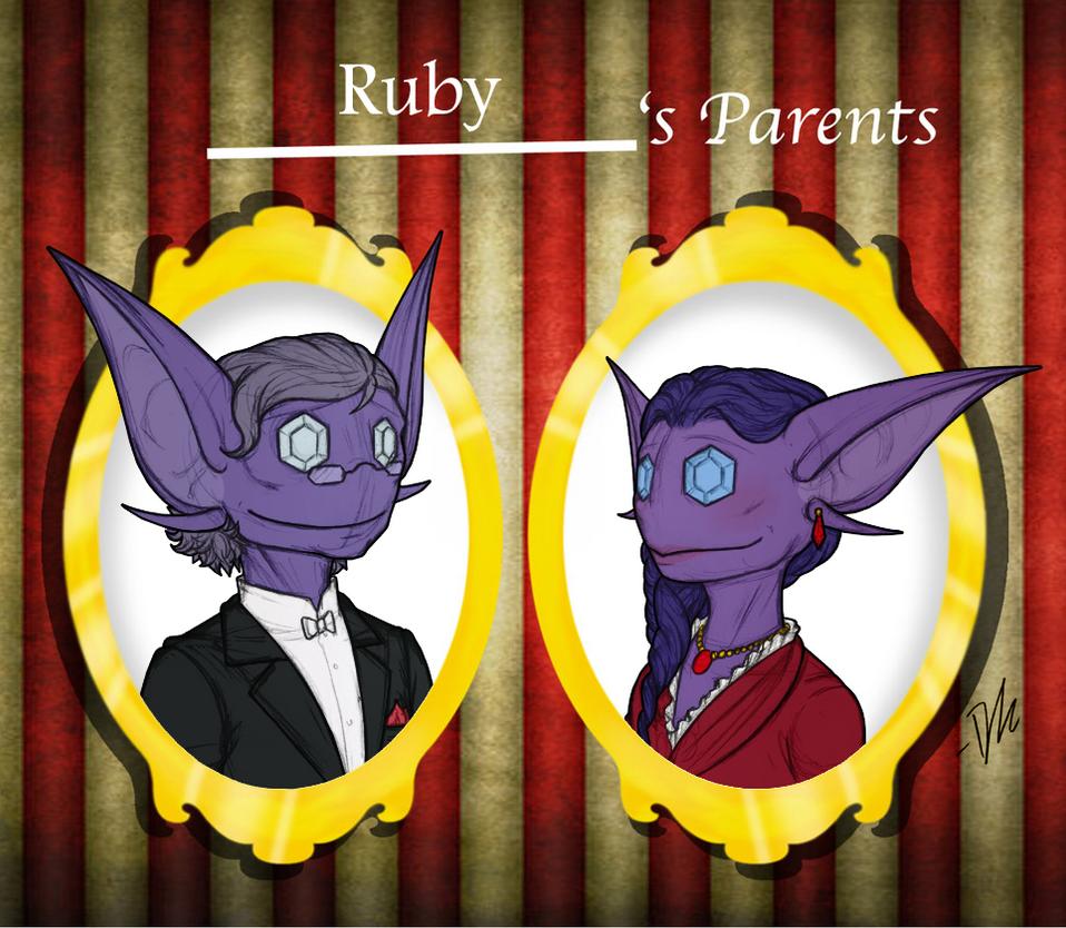 CD: Ruby's parents by Derekari