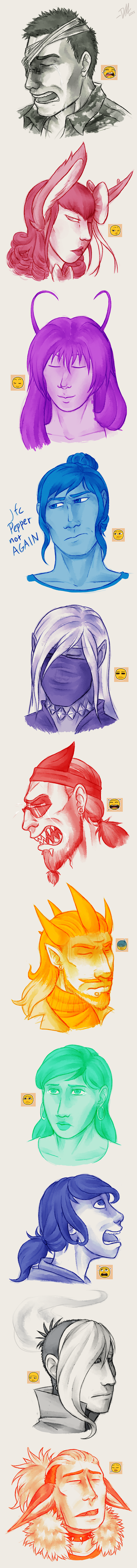 P-NO: Familiar faces 5 by Derekari