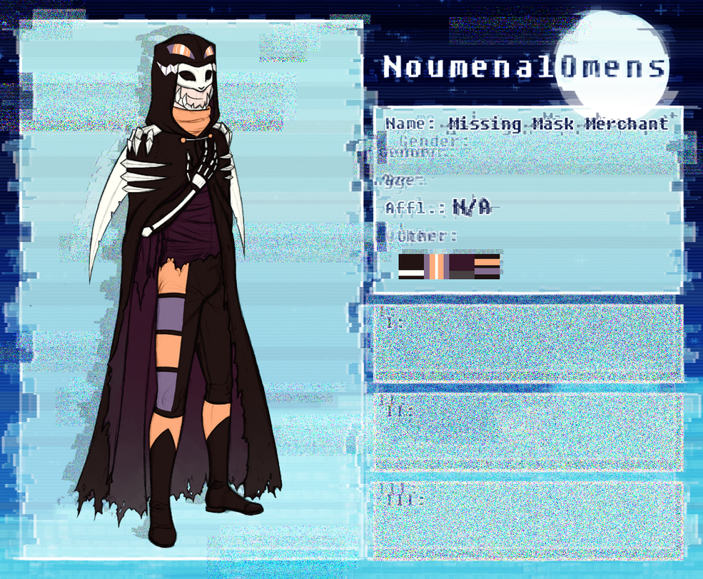 P-NO NPC: The Missing Mask Merchant by Derekari