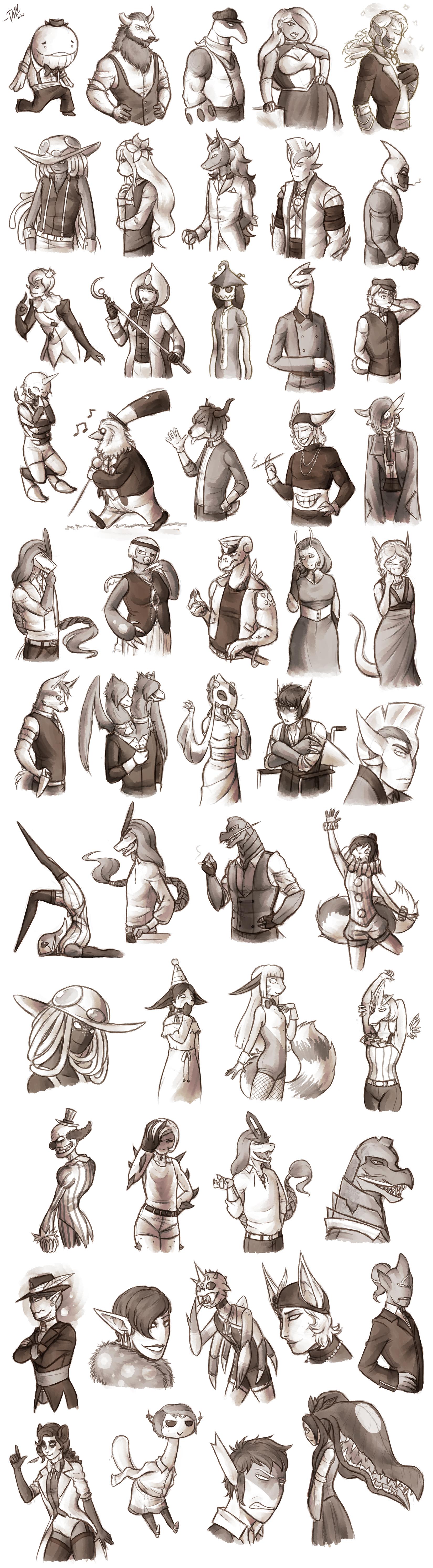 CD: Hella lot of sketches by Derekari