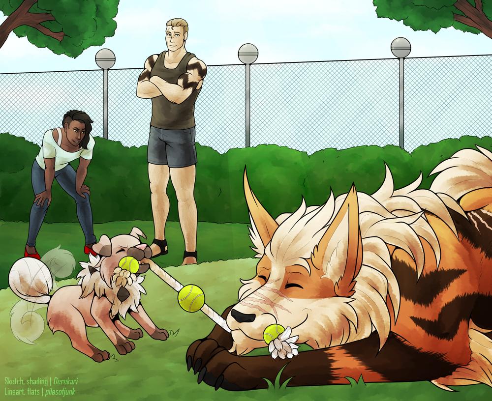 P-NO: Pup-o-war by Derekari