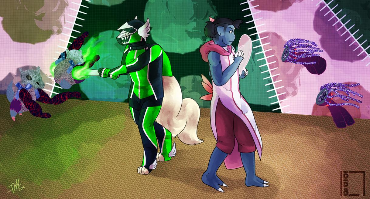 P-P: Team glowsticks by Derekari