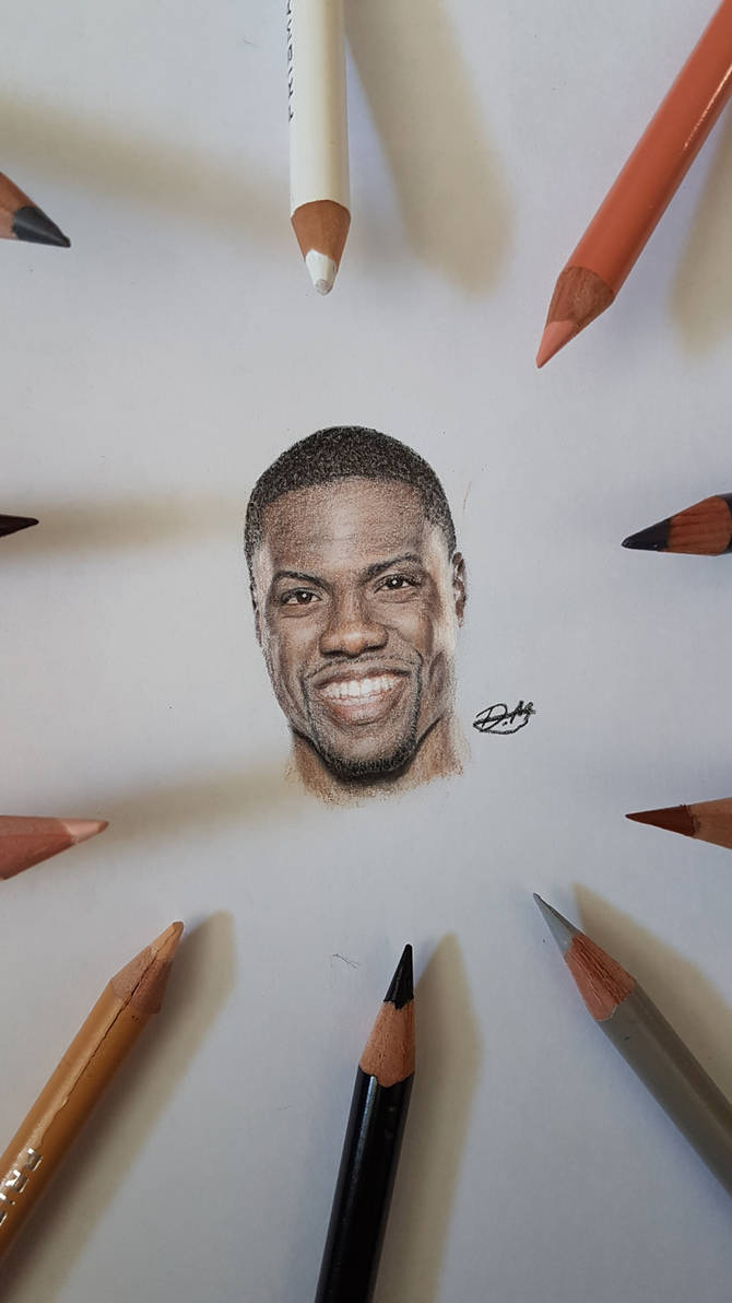 Kevin hart miniature portrait by damr0ck