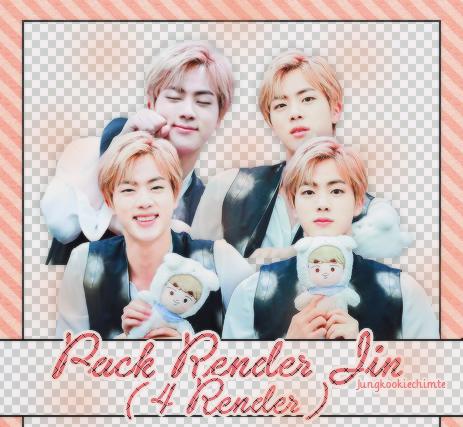 Pack Render 14 : Render Jin ( 4 render ) by Jungkookiechimte