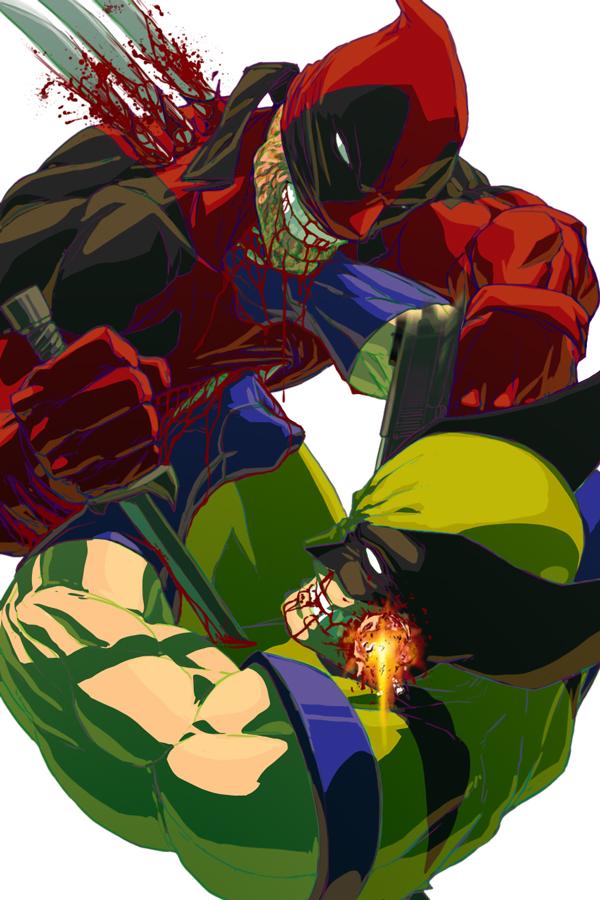 Wolverine vs Deadpool by NDGO
