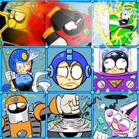The Megaman 9 Bunch by CyberMoonStudios