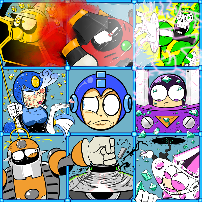 Cool pictures part 2. - Page 3 The_Megaman_9_Bunch_by_CyberMoonStudios